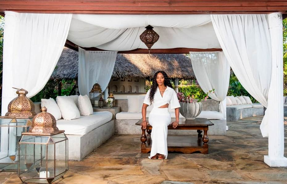 Наоми Кэмпбэлл в своем африканском доме