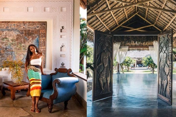 Стилистика интерьера с классическими и африканскими мотивами