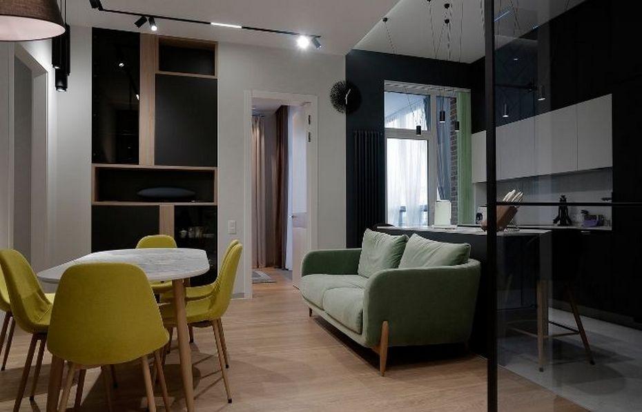 Продуманный дизайн интерьера по проекту Ремэлль в ЖК Duderhof Club