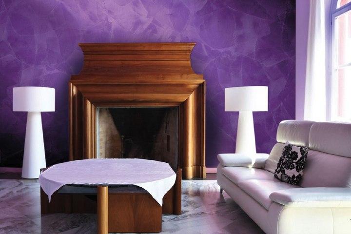 Декоративная штукатурка фиолетового цвета