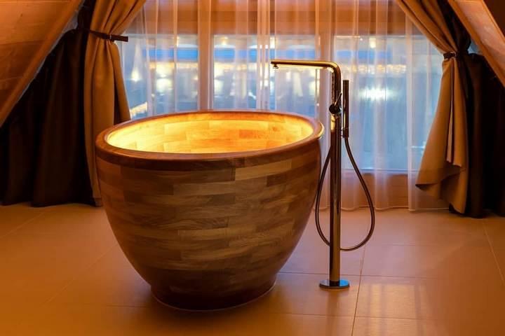 Ванна-чаша из дерева