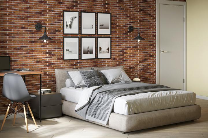Спальная зона с мягкой кроватью